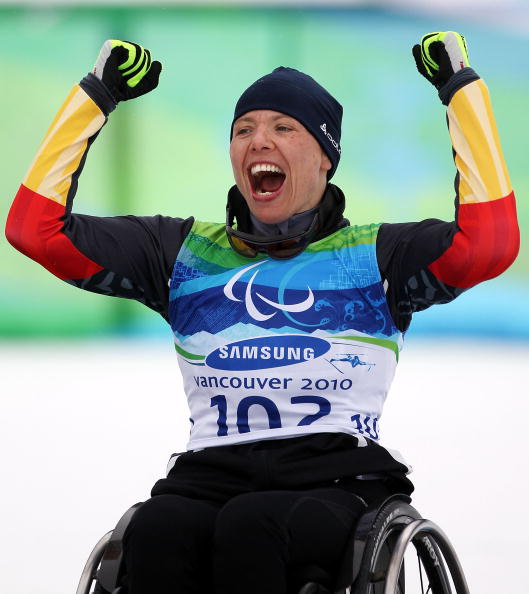 Andrea Eskau completed a hat-trick of wins at the IPC Nordic Skiing World Cup in Oberstdorf, Germany ©Getty Images