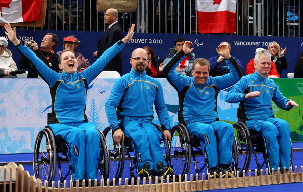 Sweden's wheelchair curling team took one of the two bronze medals the nation won at the 2010 Vancouver Winter Paralympic Games ©Getty Images