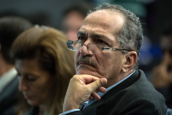 """Brazilian Sports Minister Aldo Rebelo, seen here at today's press conference of the APO, claimed Brazil is """"committed to being on schedule"""" for Rio 2016 ©Getty Images"""