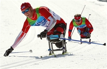 American Sean Halsted will be one of the home athletes hoping to impress when the IPC Nordic Skiing World Championships come to Cable in 2015 ©Getty Images