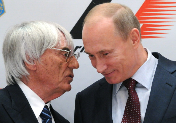 F1 boss Bernie Ecclestone has worked with Russian Prime Minister Vladimir Putin to make a Russian Grand Prix utilising the Sochi Olympic Park a reality ©AFP/Getty Images