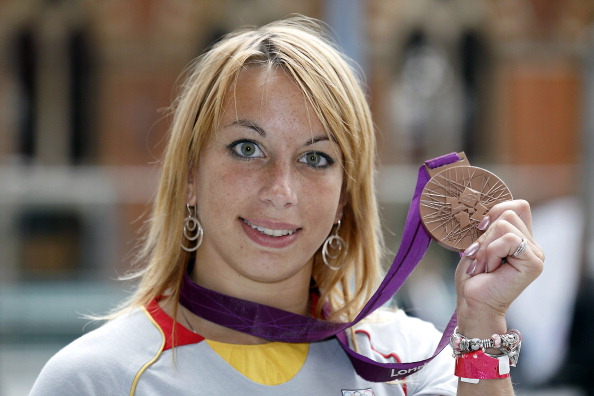 Charline Van Snick won a bronze medal at the London 2012 Olympic Games before testing positive for cocaine in 2013 ©AFP/Getty Images