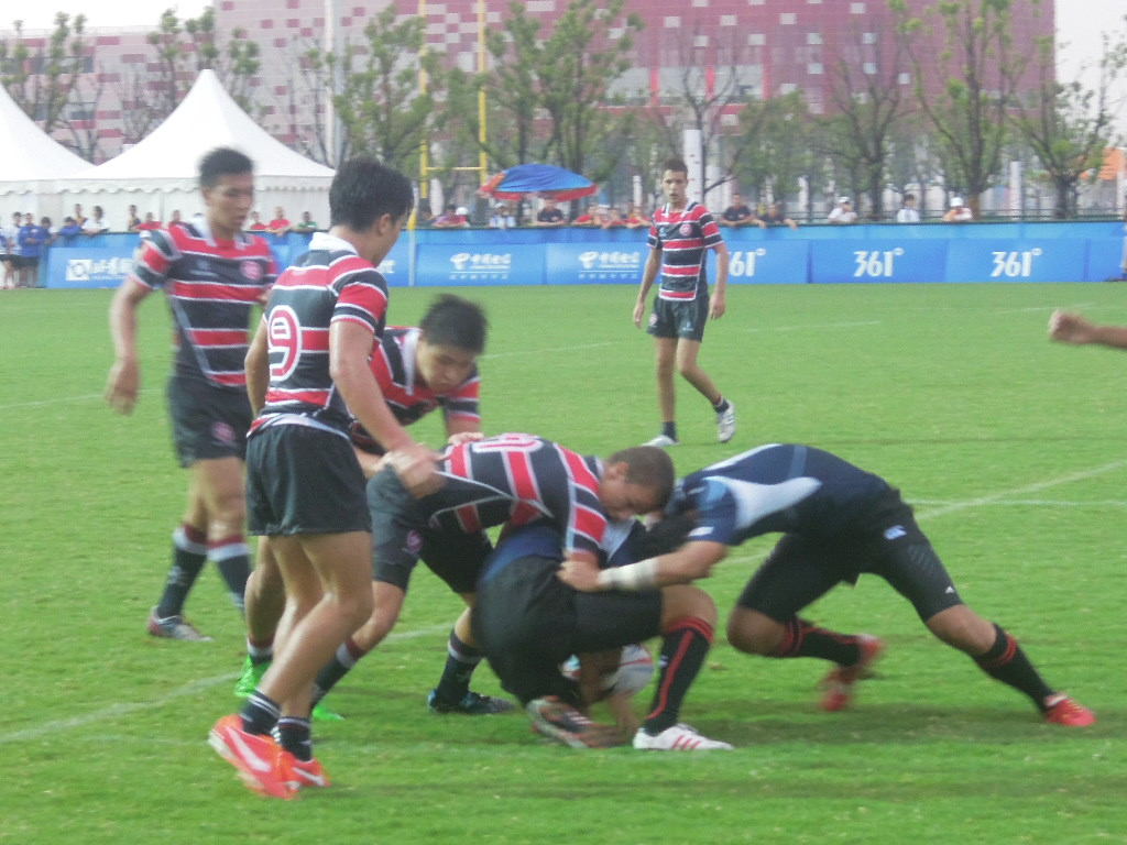 Japan face Hong Kong in rugby sevens action at the Asian Youth Games in August ©ITG