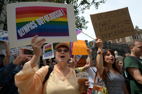 There have been international protests over gay rights in recent months following the laws introduced in Russia ©AFP/Getty Images