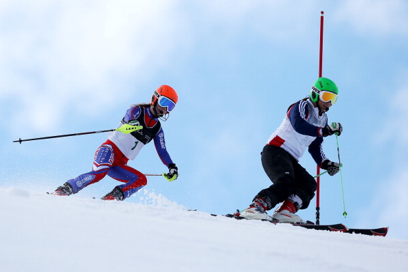 Jade Etherington, pictured last year, secured a maiden World Cup win in Tignes ©Getty Images
