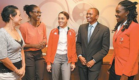 Kwanieze John (pictured far right) has been named as Trinidad and Tobago's Chef de Mission for the Nanjing 2014 Youth Olympics ©Anthony Harris/Trinidad Guardian