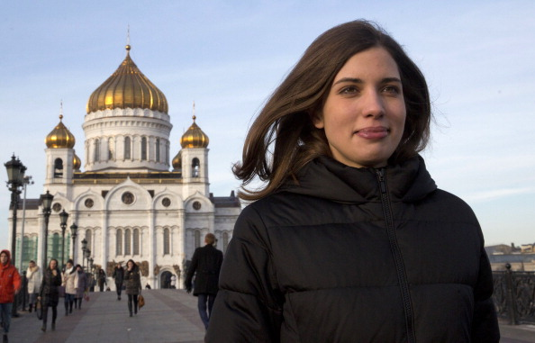 "Vladimir Putin's decision to release political prisioners like Pussy Riot singer Nadezhda Tolokonnikova have been dismissed by Gian Franco Kasper as a ""PR stunt"" ©AFP/Getty Images"