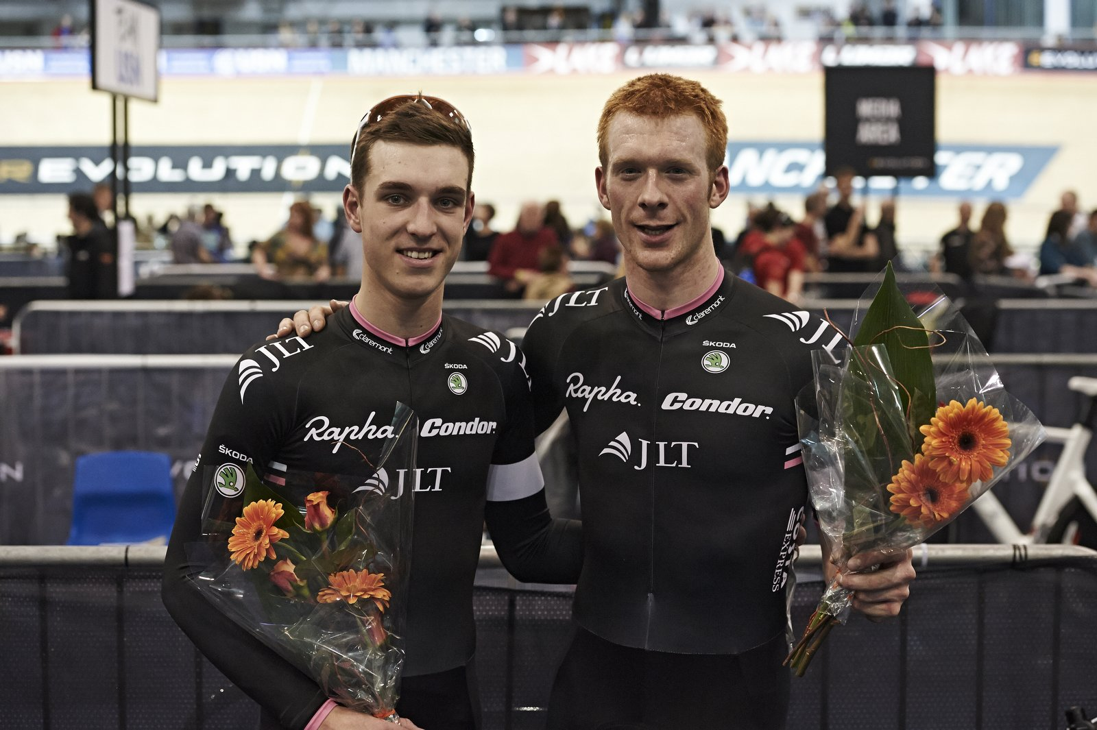 Ollie Wood and Ed Clancy were on world record breaking form in Manchester ©Revolution Series