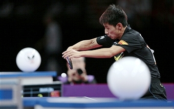 Olympic and world champion Zhang Jike is up for a prize at the 2013 ITTF Star Awards driven by GAC Motor ©AFP/Getty Images