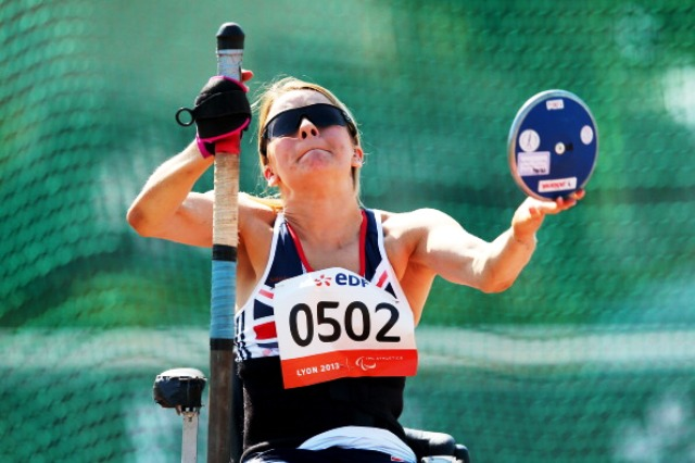 Paralympic and world discus champion Josie Pearson is a Swansea 2014 Ambassador ©Getty Images