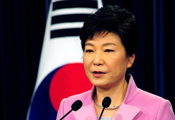 Park Geun-hye has visited South Korea's athletes ahead of Sochi 2014 ©Getty Images