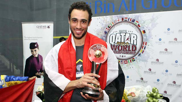 Egypt's Ramy Ashour won the title when Doha hosted the World Squash Championships in 2012 ©Qatar Olympic Committee