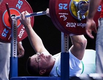 Roy Guerin competed in powerlifting for Ireland at London 2012 ©Getty Images