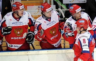 Russia has named its men's ice hockey squad for Sochi 2014 ©AFP/Getty Images