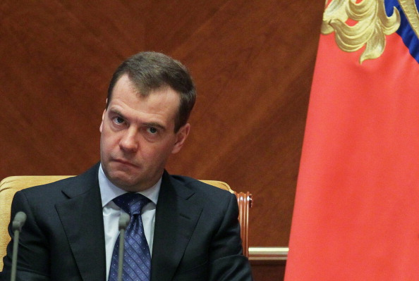 Russian Prime Minister Dmitry Medvedev has played down the persecution of gay rights in Russia ©AFP/Getty Images