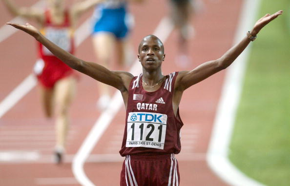 Saif Saeed Shaheen is perhaps the best known example of an athlete switching nationality away from Kenya...he won the 2003 3,000m steeplechase world title after switching from Kenya to Qatar ©Bongarts/Getty Images