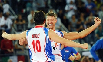 Serbia were one of six Euroepan teams to qualify for the men's 2014 Volleyball World Championships this weekend ©AFP/Getty Images