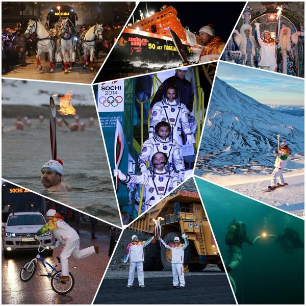 Sochi 2014 is celebrating the 100th day of the Olympic Torch Relay ©Sochi 2014 Twitter