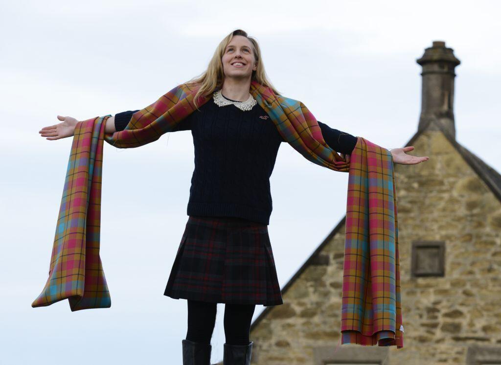 Team Scotland's Glasgow 2014 tartan has been revealed ©Team Scotland Twitter