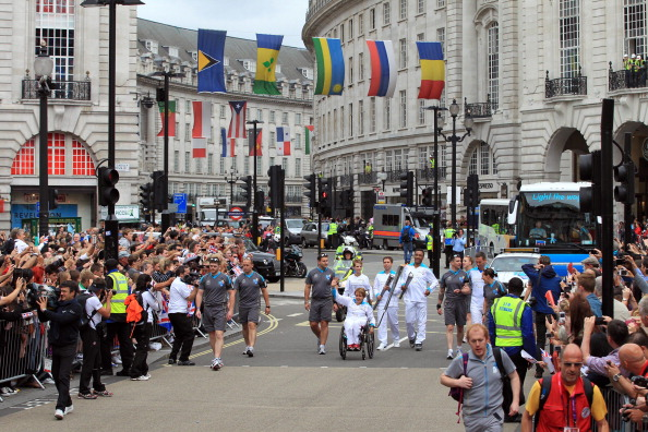 The Paralympic Torch Relay at London 2012 was a great success in the aftermath of the Olympic Games ©Getty Images