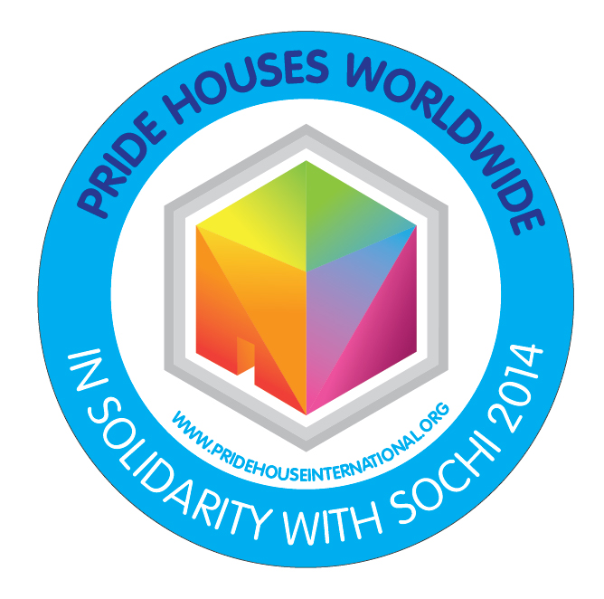 """A logo has been unveiled to show support for """"remote Pride Houses"""" ©Pride House International"""