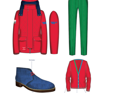The outfits for Azerbaijani athletes participating at Sochi 2014 have been revealed ©Trend News Agency