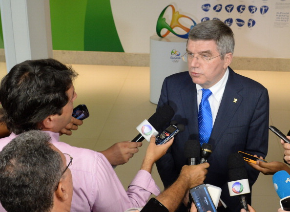 Thomas Bach said he was impressed following a visit to check up on Rio 2016's Olympic and Paralympic preparations this week ©Getty Images