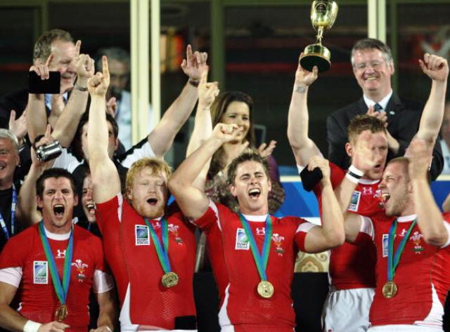 Under Paul John, Wales reached the pinnacle of their game in 2009 by winning the Rugby World Cup Sevens title in Dubai ©AFP/Getty Images