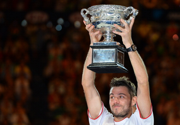 Stanislas Wawrinka will move up to number three in the world after his Australian Open triumph ©AFP/Getty Images