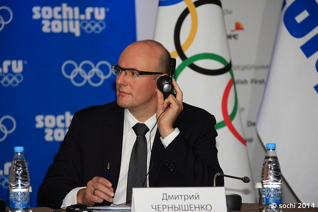Sochi 2014 President and chief executive Dmitry Chernyshenko has warned athletes they will not be allowed to protest during press conferences at the Winter Olympics, contradicting what IOC President Thomas Bach said earlier in the week ©Sochi 2014
