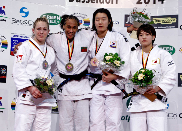 31-year-old Assmaa Niang won her first World Judo Tour medal on Saturday as she beat Britian's Sally Conway in the final of the women's under 70kg contest ©IJF