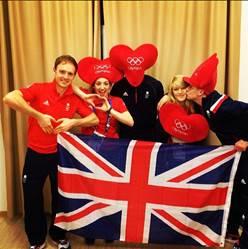 A Valentines Day message from the British team ©Chloe Gilmartin/Instagram