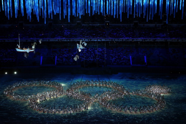 The Closing Ceremony satirically acknowledged the technical glitch of the Opening Ceremony ©Getty Images