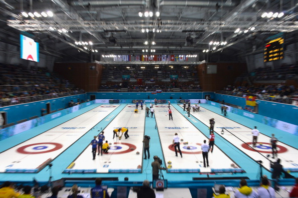 A busy afternoon - as ever - in the curling ©Getty Images