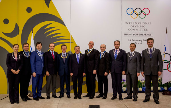 A number of Olympic Orders were handed out this morning to those who had worked hardest to deliver the Games ©IOC