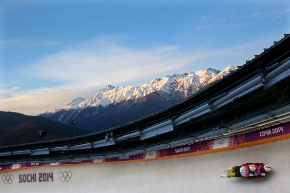 A stunning backdrop is the scene as Germany continue their golden streak in luge
