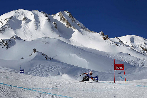Anna Schaffelhuber has won her fourth gold medal of the IPC Alpine Skiing World Cup in Tignes with victory in the women's sitting super-combined event ©Gregory Picourt