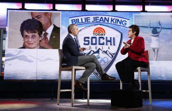 Billie Jean King will be a leading member of the United States official delegation at Sochi 2014 ©NBC