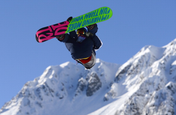 Billy Morgan became the first athlete to compete at Sochi 2014 when he took part in the snowboard slopestyle ©AFP/Getty Images