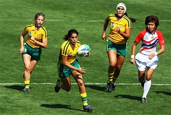 Brazil's women's rugby sevens side will be out to impress on home soil in Sao Paulo this weekend ©Getty Images