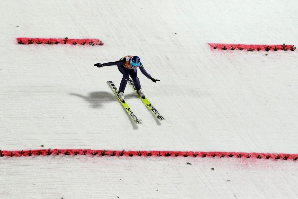Carina Vogt won gold in ski-jumping last night - the first ever women to do so ©Getty Images