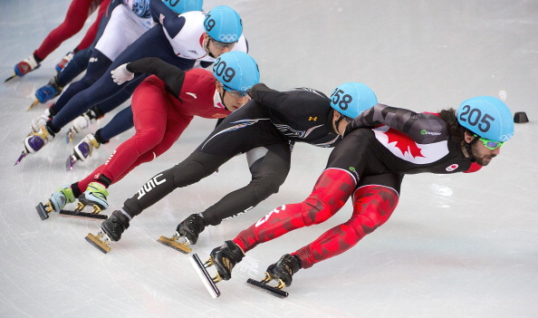 Charles Hamelin won the opening short track race of Sochi 2014 over 1,500m ©McClatchy-Tribune/Getty Images