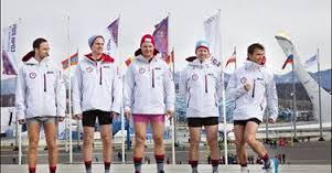 Curling team with no pants ©Norwegian Curling Team/Facebook