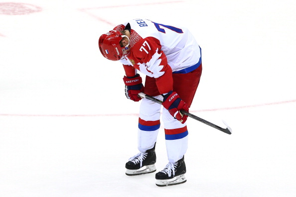 Despondence for Russia as they crash out of the ice hockey competition ©Getty Images