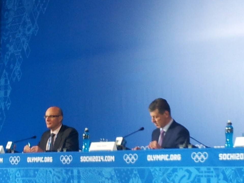 "Dmitry Kozak and Dmitry Chernyshenko each provided assurances that Sochi will be the ""safest city in the world"" during the Games ©ITG"