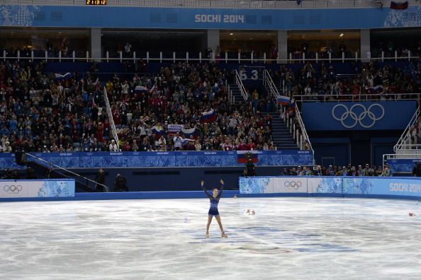 Doubts over atmosphere were dispelled by the raucous reception for the victorious Russian figure-skating team ©Getty Images