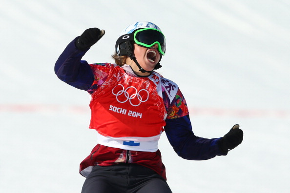 Czech Republic's Eva Samkova won the snowboard cross, an event marked by spills and thrills ©Getty Images