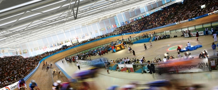 Events International will provide corporate hospitality at Glasgow 2014 venues including the Sir Chris Hoy Velodrome ©Glasgow 2014