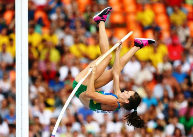 Fabiana Murer failed to defend her world pole vault title in Moscow last year ©Getty Images