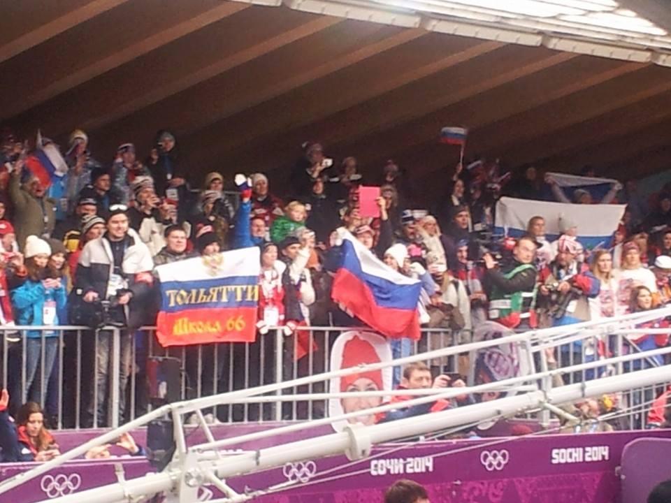 Fantastic home support for bronze medal winner Elena Nikitina ©ITG